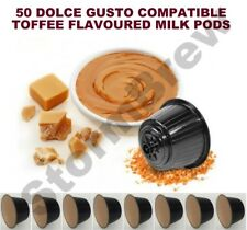 50 DOLCE GUSTO COMPATIBLE TOFFEE FLAVOURED MILK PODS CAPSULES