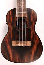 Amahi UK-990C-EQ Acoustic/Electric Concert Ukulele Uke Ebony NEW w/ Gig Bag