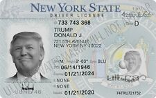 Trump Memorabilia Trump NY Drivers License with Free Shipping