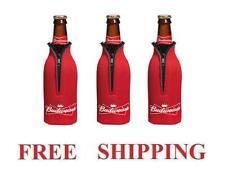 Budweiser 3 Bud Bottle Cooler Coozie Coolie Koozie Hugie New