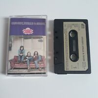 CROSBY STILLS & NASH S/T SELF TITLED CASSETTE TAPE 1972 PAPER LABEL ATLANTIC