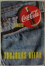 Affiche Always COCA COLA TOUJOURS RELAX Ann.'90 - 119x174 cm