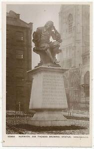 Norwich, Sir Thomas Brown's Statue
