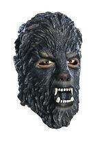 Adult Mens WOLFMAN Mask Vinyl Were Wolf Dark Grey Gray Masque Costume Accessory