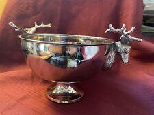 Silver plate Stag Handled Bowl.Elegant!