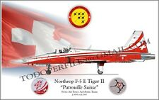 "Northrop F-5 E Tiger II ""Patrouille Suisse"" Swiss Air Force -Poster Profile"