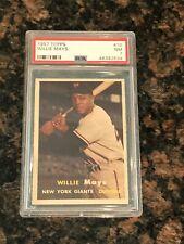1957 Topps Willie Mays New York Giants #10 Baseball Card PSA 7