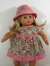 DOLL DRESS MATCHING HAT FOR AMERICAN GIRL DOLL BITTY TWINS BABY GIRL CLOTHES