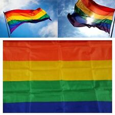 3x5ft Polyester Rainbow Flag Gay Pride Lesbian Peace LGBT With Grommets New