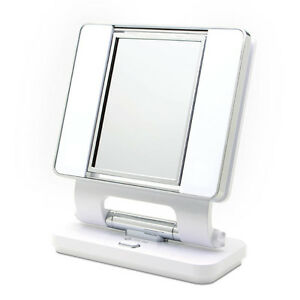 OttLite Natural 5X-1X Lighted Magnifying Makeup Mirror White Great 4 Low Vision