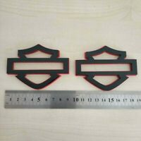 Harley Davidson Emblems 2 pcs, Red&Black Custom CVO  Fuel Gas Tank Emblems Badge