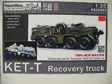 1/35 Panzershop KET-T Russian Recovery Vehicle Conversion for Trumpeter Maz 537