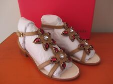 Kate Spade New York - Beatriz Sandals - 8M - Natural Vacchetta - NEW IN BOX