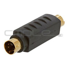 Svideo Male Plug Composite To S-Video S-VHS Plug Adapter Coupler