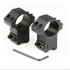 "2X 1"" High Profile Tactical Rifle Scope Rings 25.4x11mm Dovetail Rail Mount H-U"