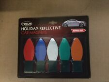 Fine Life Products Christmas Light Holiday Reflective Car Magnets, 10 pieces NEW