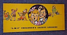 L-M-C Children's Safety Lessons - Lumbermens Mutual Casualty Company - 1938 RARE