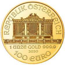 2020 100 Euro Austrian Gold Philharmonic .9999 1 oz Brilliant Uncirculated