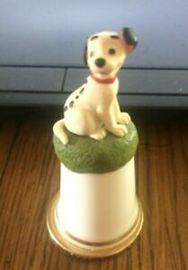 DISNEY COLLECTION THIMBLE 101 DALMATIANS (LUCKY)STERLING CLASSIC ENGLAND