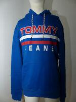 Neuer Tommy Jeans TJM Essential Graphic Hoodie Gr XXL Blau DM0DM04090 Pullover