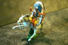 BRITAINS HERALD SWOPPET WW Wild West Indian Mounted Long Chief Archer Bow Blue