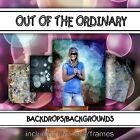 Digital Seniors Backdrops Backgrounds-OTO Indoor Outdoor Photoshop Templates