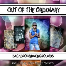 Digital Seniors Backdrops Backgrounds-OTO Indoor Outdoor Photoshop Templates