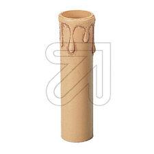 Kerzenhülse E14 beige/antik mit Tropfen aus Kunststoff, Höhe 100mm, Ø 25mm