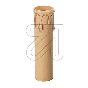 Candle Sleeve E14 Beige/Antique With Drops from Plastic, Height 100mm, Ø 25mm