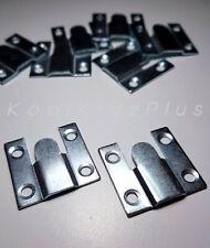 6 PIECES 3 PAIRS FLUSH MOUNTS 35 X 35MM FRAME HEADBOARD INTERLOCKING BRACKETS