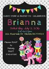 My Little Pony Party Invitation Personalized, Custom, You Print!