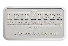 10 Gramm Silberbarren Silver Bar 999 Feinsilber LEV original verschweißt