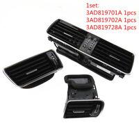 VW Passat 3AD819728A 3AD819701A Chrome Piano Black Dashboard Air Condition Vents