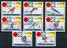 Rwanda 1972 MNH Winter Olympics Sapporo 8v Set Skiing Skating Sports Stamps