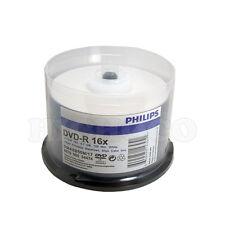 100 Philips Duplicator Grade 16X Blank DVD-R White Inkjet Hub Printable Disc