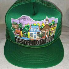 Vintage Green Hershey's Chocolate World Truckers Ball Cap Mesh Snap Back