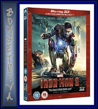 IRON MAN 3 - BLU RAY 3D *** BRAND NEW BLU-RAY ** REGION FREE **