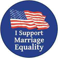 """I Support Marriage Equality Gay LGBT  Democrat Pin 3"""""""
