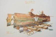 H.L. HUNLEY CONFEDERATE SUBMARINE PRINT CHARLESTON LG