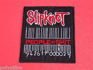SLIPKNOT BARCODE PEOPLE = 5HIT METAL SEW/IRON ON PATCH