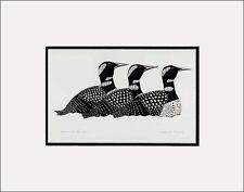 - Return of The Loons by Inuit Artist Kenojuak Ashevak Matted Art Print
