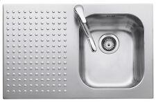 BARAZZA lavello con 1 vasca + gocciolatoio a sinistra 1IS8060/1S