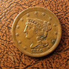 1855 Braided Hair Half Cent, C-1