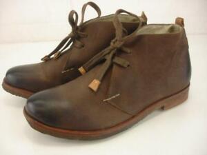 Women's 8 M Bernardo Desmond Chukka Boots Brown Leather Ankle Lace-Up Desert Tie