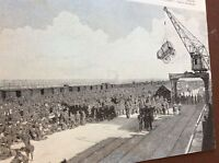 m8-1 ephemera 1938 ww1 picture british army land zeebrugge 1914