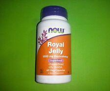 Jalea Real 1500 mg 60 capsulas Now Energia