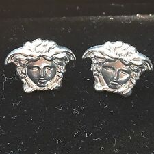 Versace Medusa Earrings 925 Pure Silver (authentic 96' Gianni Design Vintage)