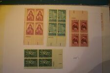 1957 1958 USPS MNH Plate Blocks Lot# 135 S# 1087, 1097, 1100, 1109. 3 cent