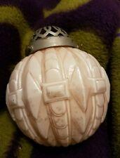 Globe lampe rose en opaline déco vintage avec griffe diam  : 16 cm luminaire
