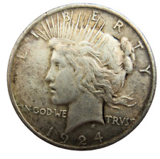 More details for 1924 usa silver peace one dollar $1 coin